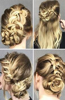 4 cute braided hairstyles in easy step by step tutorials