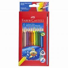 faber castell colour grip watercolour pencil brush 12