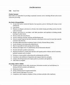 download resume template for bank teller templates
