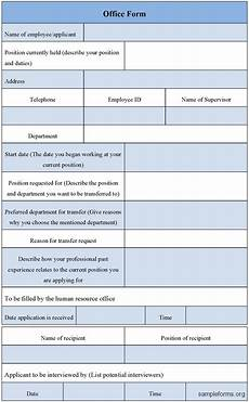 office form template sle forms