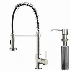kitchen faucet pull sprayer vigo single handle pull out sprayer kitchen faucet with soap dispenser in stainless steel