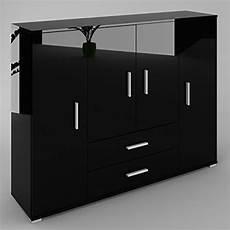 schrank schwarz kommode sideboard anrichte schrank diana in schwarz