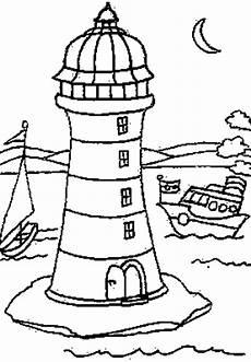 Kostenlose Malvorlagen Leuchtturm Leuchtturm Mit Mond Ausmalbild Malvorlage Gemischt