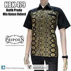 baju batik pria batik prada kombinasi pripoen batik pekalongan baju batik pekalongan