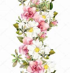 bordure en fleur borde flores rosadas borde de cuadro acuarela