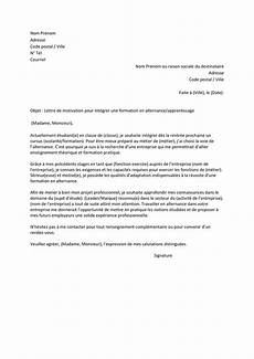 lettre de motivation pour un apprentissage lettre de motivation pour int 233 grer une formation en alternance apprentissage doc pdf page 1
