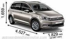Vw Touran Länge - dimensions of volkswagen cars showing length width and height