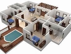Denah Rumah Mewah 2 Lantai Dengan Kolam Renang Sekitar Rumah
