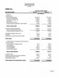 nike balance sheet balance sheet equity finance