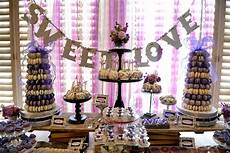 le chef purple quot sweet love quot wedding dessert table