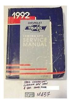free service manuals online 1994 chevrolet lumina user handbook 1992 92 chevrolet lumina apv van shop service repair manual ebay