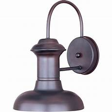 lighting wharf 1 light rubbed bronze outdoor wall 35003ob the home depot