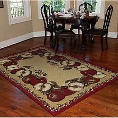 Kitchen Area Rugs Walmart orian apple border area rug sand walmart