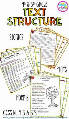 4th grade poetry reading comprehension worksheets 25454 text structure in stories poems and plays 4th grade rl 4 5 5th grade rl 5 5 reading