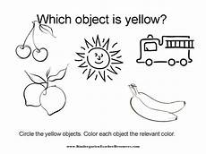 color yellow worksheets for preschool 12892 color worksheets identifying colors