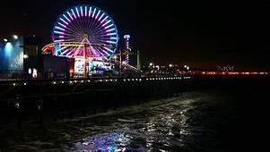 Santa Monica Pier At Night Photos  News Item Photo Booth
