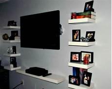 tv regal ikea floating ikea lack shelves as an entertainment center my
