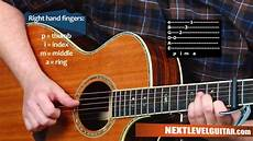 guitar picking technique acoustic finger picking guitar techniques lesson inspired safe n sound civil wars