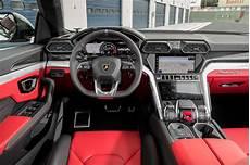 2019 Lamborghini Urus Bianco Icarus Interior 4 Motortrend