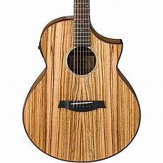 wood acoustic guitars ibanez wood aew40zw nt acoustic electric guitar musician s friend