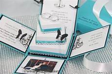 lace exploding box wedding invitations w square cake