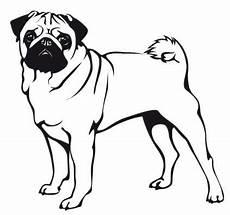 Malvorlage Hund Mops Hunde Wandtattoo Mops 7 Tierisch Tolle Geschenke