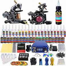 solong complete tattoo kit 2 coil machine guns 40inks