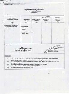 barangay 95 zone 8 tondo 1 barangay budget preparation form no 5