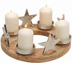 adventskranz kerzenhalter sterne metall holz weihnachten