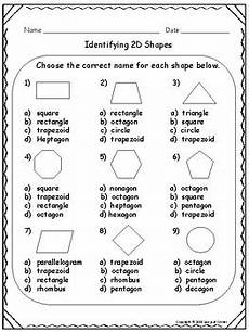 identifying shapes worksheets 1149 geometry identify 2d and 3d shapes worksheet and quiz packet tpt