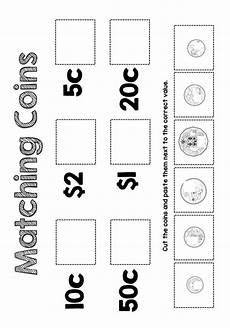 money worksheets and activities 2061 great matching coin activity for learners to remind themselves of the value of each of