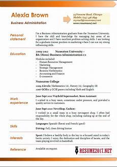 business administration resume exles 2017