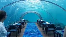 5 8 undersea restaurant at hurawalhi maldives resort youtube