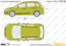 Ford C Max Grand Mav Vector Drawing
