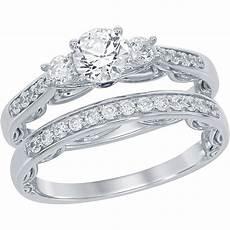 disney enchanted 14k white gold 7 8 ctw diamond cinderella bridal bridal sets