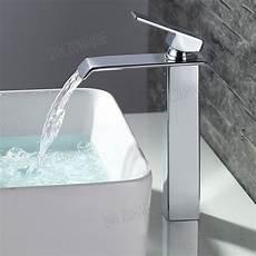 Wasserhahn Für Aufsatzwaschbecken - design wasserfall wasserbecken mischbatterie waschtisch