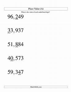 place value worksheets to ten thousands 5287 place values ones to ten thousands u s format large print a