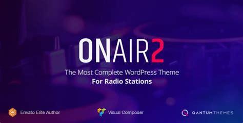 onair2 v2 3 1 radio station wordpress theme