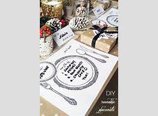 DIY Laminated Reusable Table Setting Placemats   DIY