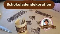 schokoladen dekor f 252 r desserts und kuchen selber machen