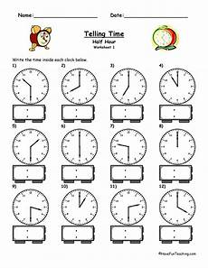 time worksheets hour and half hour 2913 telling time worksheet to the half hour