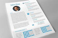 professional resume template for adobe indesign on behance