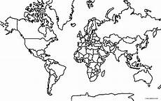 Malvorlagen Word Printable World Map Coloring Page For Cool2bkids