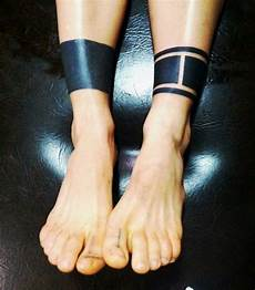 black band ankle band black tattoos line