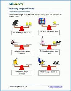 grade 2 weight worksheets measuring weights in ounces