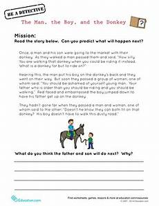the man the boy and the donkey worksheet education com