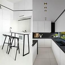 cuisine noir et blanc cuisine blanche et 233 l 233 gance et design intemporels
