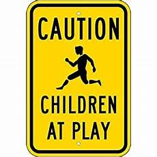 caution children at play signs 12x18