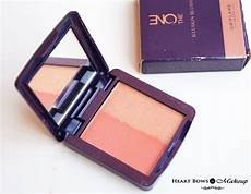 oriflame the one illuskin blush review swatches pink glow luminous shimmer rose