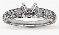 wedding rings without center stone diamond settings